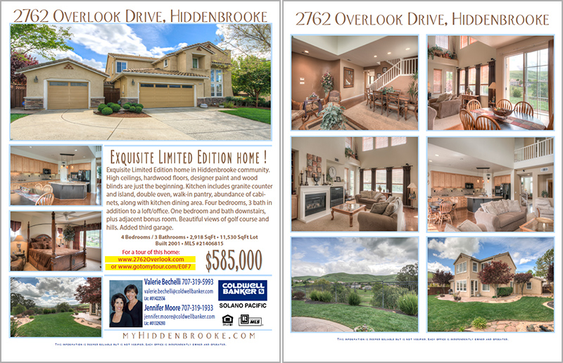 #2 Two Page Color Brochure  Home For Sale Brochure